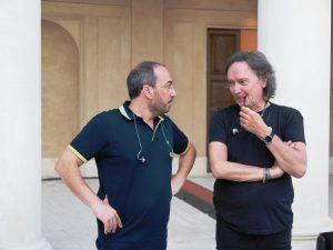 Stefano Fonzi con Red Canzian dei Pooh