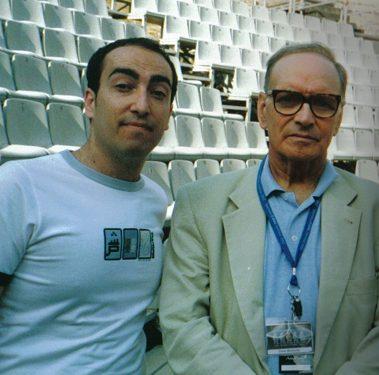 Stefano Fonzi con Ennio Morricone