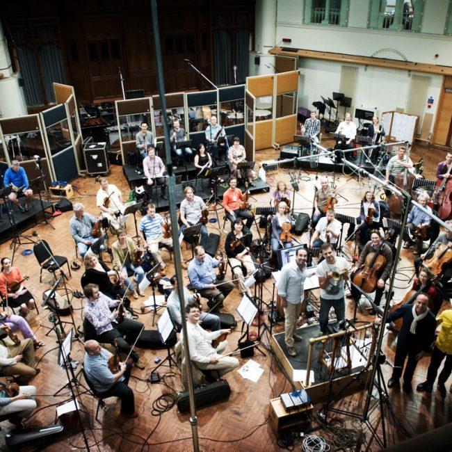 Stefano Fonzi con la London Symphony Orchestra e Fabrizio Bosso