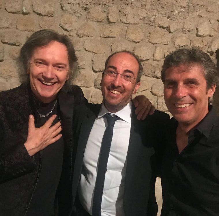 Stefano Fonzi con Red Canzian dei Pooh e Luca Barbarossa