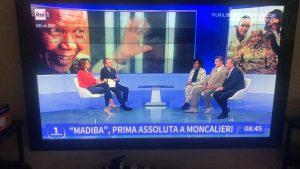 Stefano Fonzi Ndileka Mandela Ugo Viola Studi Rai 1