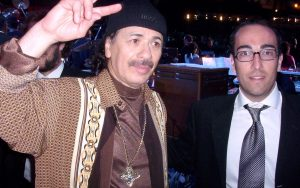 Stefano Fonzi con Carlos Santana